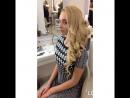 Воздушная, объемная греческая коса набок и свадебный макияж
