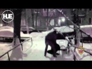 Грабитель попал на видео на севере Москвы