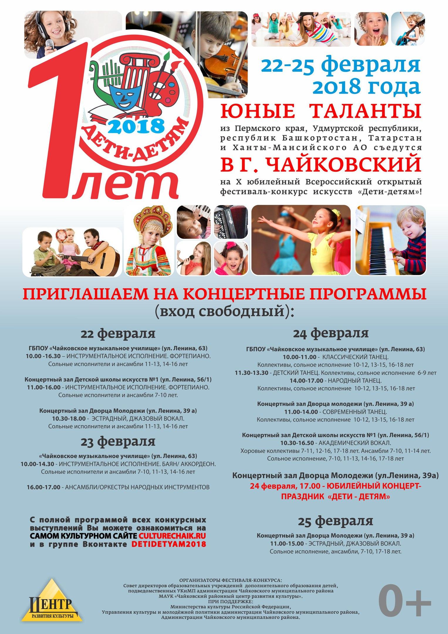фестиваль Дети-детям, чайковский, 2018