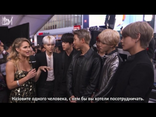 [RUS SUB][20.11.17] BTS Interview for Billboard @ The American Music Awards Red Carpet