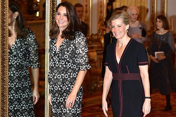 Кейт Миддлтон и графиня Уэссекская Софи устроили модный прием в Букингемском дворце