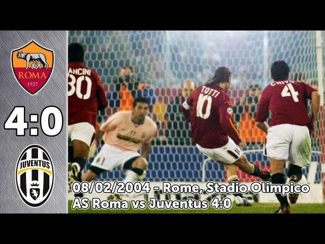 Рома - Ювентус 4:0 Полный матч 08/02/2004 | Serie A | 2003/2004