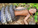 Terrifying!! Fearless Little Sister and Brother Catch Very Big Snakes By Digging  Hole