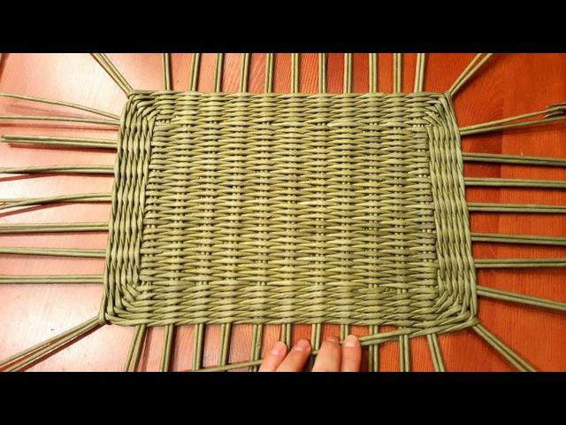 Плетем сундучок (короб) из газет. 1 Часть. Плетение прямоугольного дна! Прямая тра...