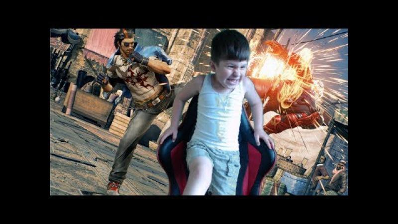История о том как СЫН превзошел ОТЦА. Tekken 7. Мой сын победил меня в ФАЙТИНГЕ 1 на 1.