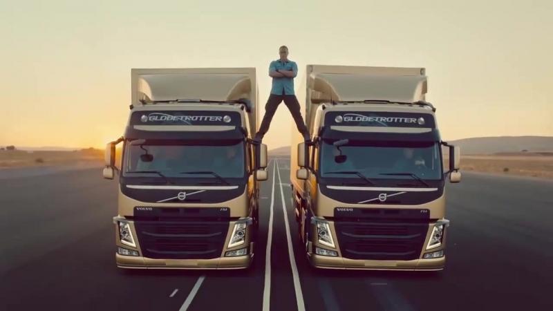 Жан-Клод Ван Дамм показывает эпичный шпагат в рекламе Volvo
