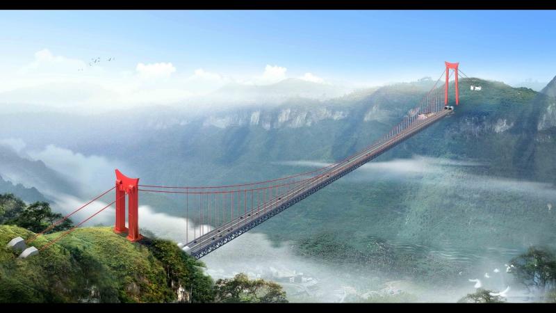 BASE jumping in China Aizhai bridge. Бейсджампинг в Китае