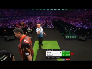 Gerwyn Price vs Mensur Suljović (2018 Premier League Darts / Week 4)