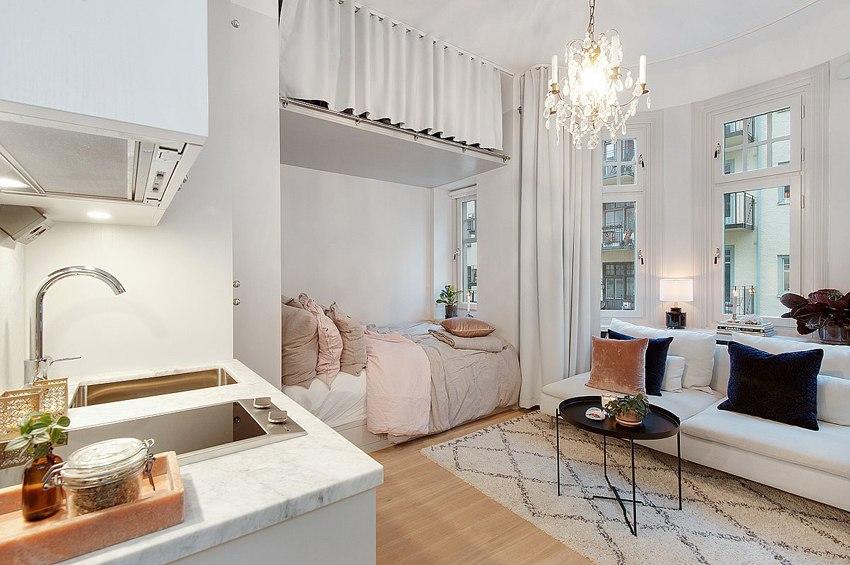 Маленькая шведская квартира-студия 18 м.