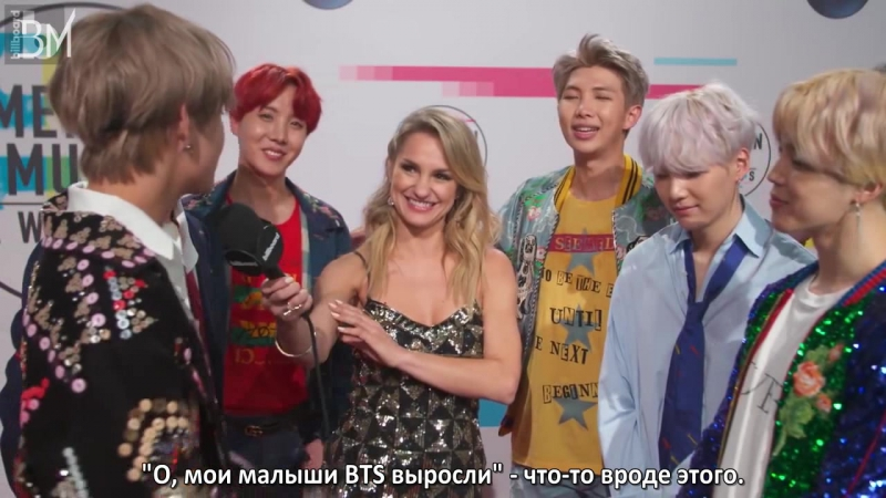 [RUS SUB][20.11.17] BTS After Their First U.S. Television Debut for The 2017 American Music Awards @ Billboard