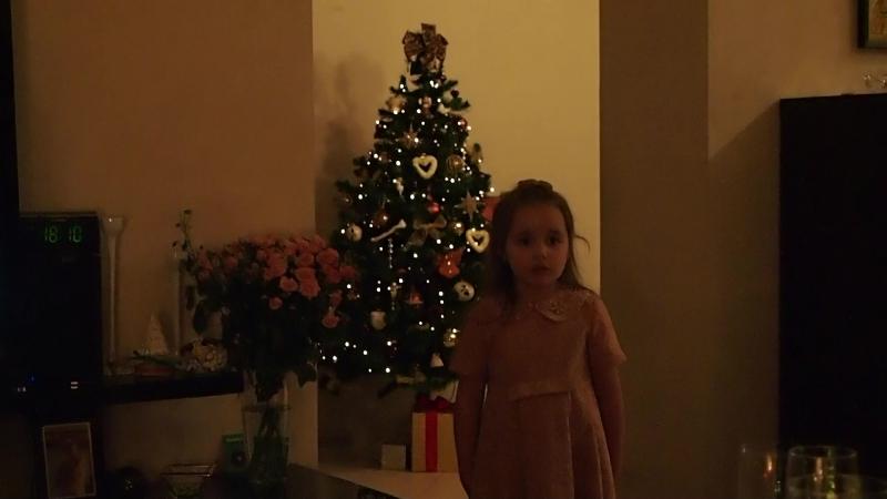 Машуня читает Достоевского на Рождество в гостях.