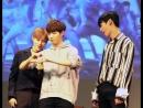 Minhyun's reaction to jaehwan's heart with sungwoon | minhwan