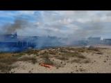 Пожар на пляже Любимовка, Севастополь