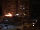 В Перми горит баня на Левченко