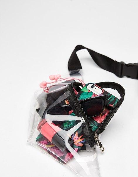 Прозрачная поясная сумка