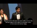 Shah Rukh Khan Getting Award For Outstanding Achievement In Cinema ¦ 5th Asian Awards, London 2015 (с русскими субтитрами)
