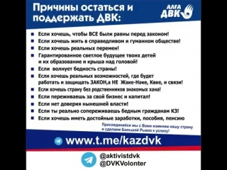 Активистам группы ДВК