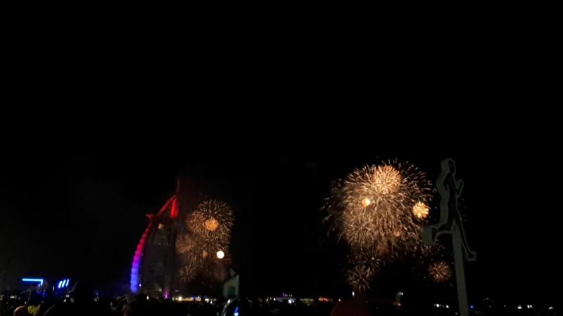Fireworks. Dubai 2018. Burj al arab