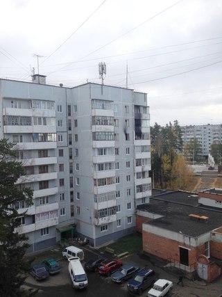 Пожар в Усть-Илимске на улице Мечтателей, 56