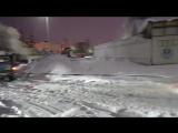 УАЗик толкает фуру в Одинцово