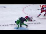 Стычка во время матча «Салават Юлаев» vs «Локомотив»