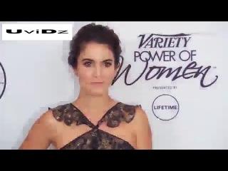 Peek a boo! Beautiful Nikki Reed shows skin at Variety's Power Of Women gala