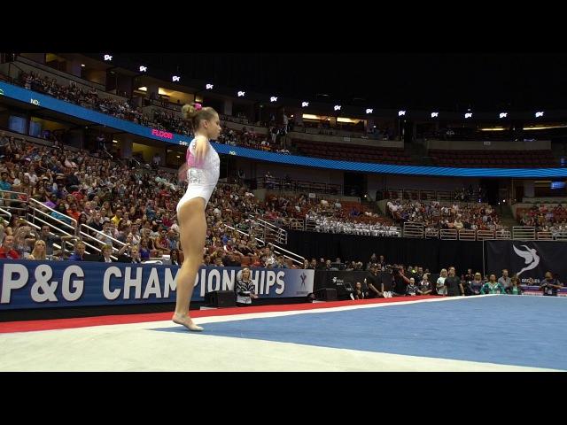 Ragan Smith - Floor Exercise - 2017 PG Championships - Senior Women - Day 2