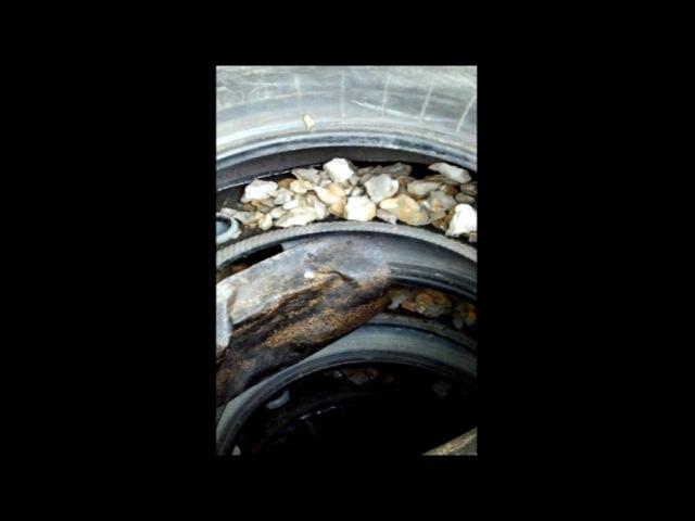 Выгребная яма из покрышек Горизонтальный дренаж.