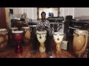 Issiaka Dembele Ossi Percussion 13 ropeless maple djembe