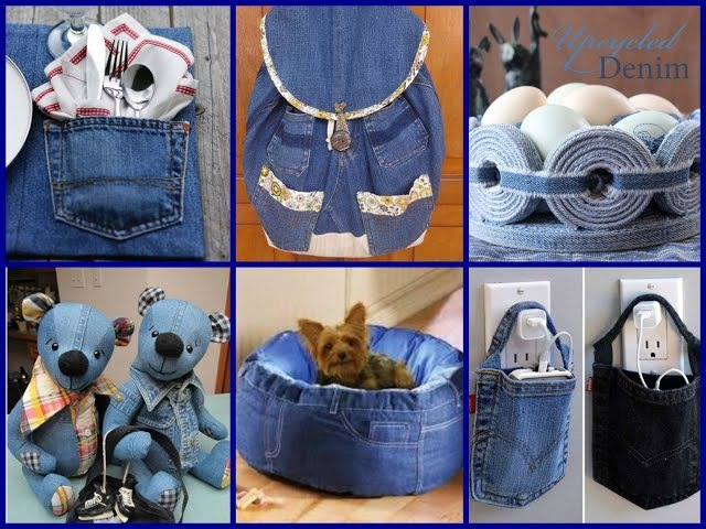Recycled Crafts Ideas - 50 Diy Old Jeans Projects