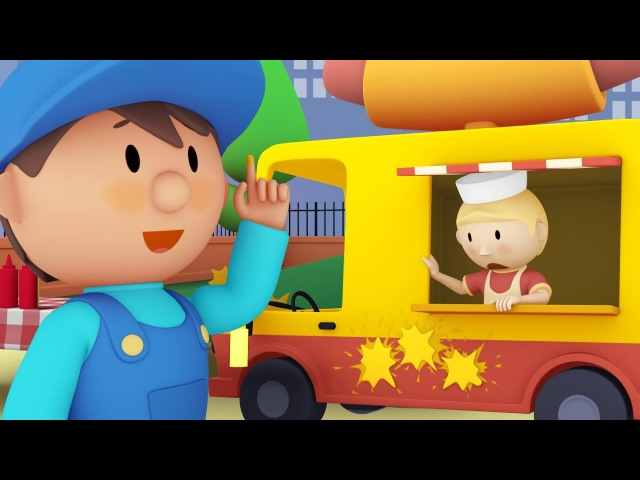 Harvey's Hot Dog Truck Car Wash Cartoon for Kids
