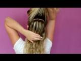 Как Сделать Высокий Хвост с удлинением Как удлинить хвост без накладных волос