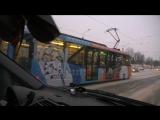 Олимпийский трамвай в Санкт-Петербурге 09.02.18