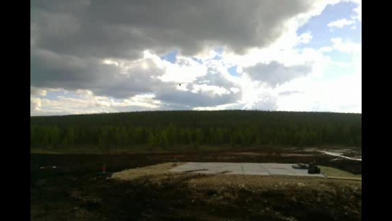 Чаяндинское месторождение.Республика (Саха )Якутия 4 июня 2014 год,улетали в г Ленск ,а потом домой.