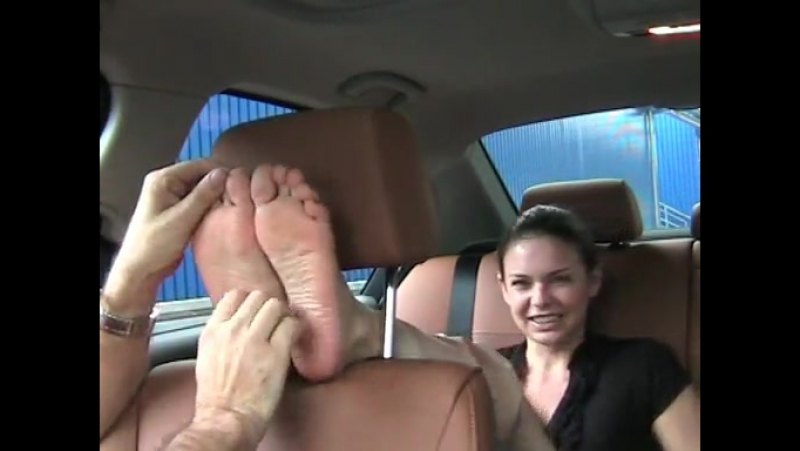 Poisons Feet Gets Tickled In The Car