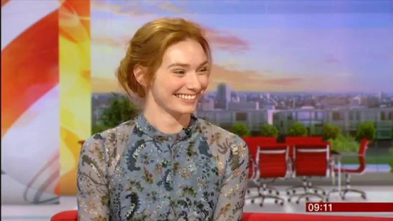 POLDARK – Элинор Томлинсон на шоу BBC Breakfast
