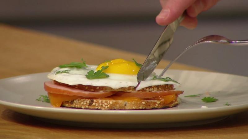 Хлеб! Есть! №12: Французский хлеб с семенами, Сэндвич с крок-месье
