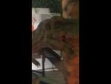 Дениска на динозавре