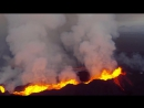 Извержение вулкана Бардарбунга - видео с беспилотника