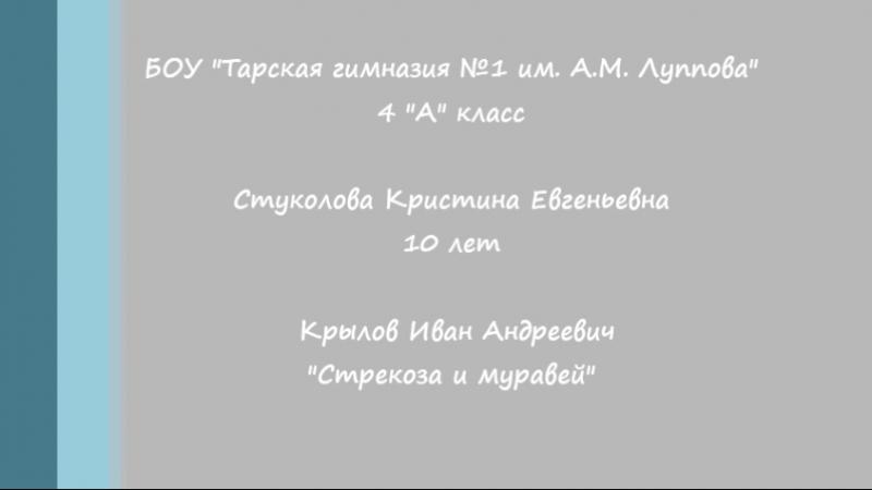 БОУ Тарская гимназия №1 им. А.М. Луппова Стуколова К.Е.