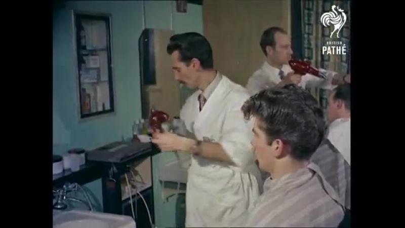 The Elephant's Trunk- 1950's Men's Hair Styles (1956) - British Pathé