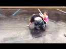 Parking lot party Crazy chick fight YouTube