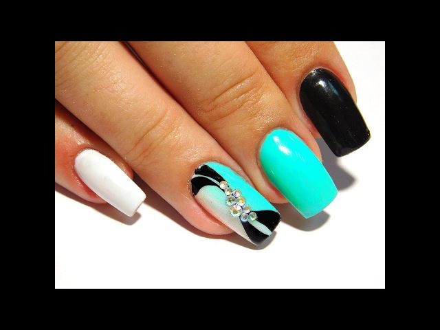 Turquoise gradient New Nail Art 2017 The Best Nail Art Designs Compilation June 2017