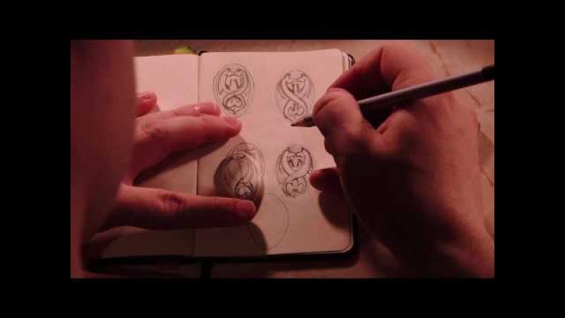 Резьба по кости. Как сделать подвеску с кельтским мотивом . diy keltic pendant. Kelpie