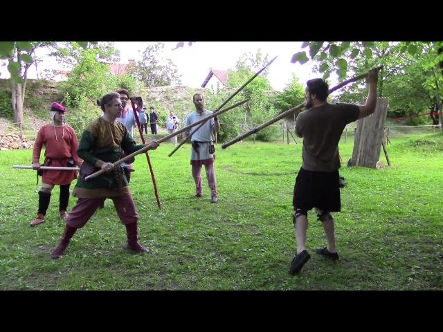 Мастер класс по фехтованию древним оружием