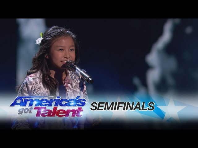 Celine Tam: 9-Year-Old Stuns The Audience With How Far I'll Go - America's Got Talent 2017