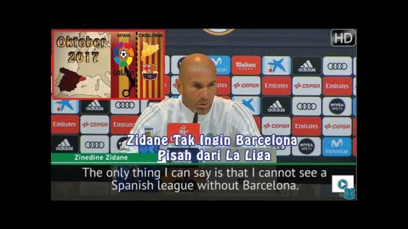 Zidane Tak Ingin Barcelona Pisah dari La Liga