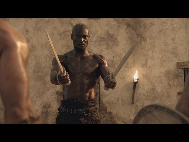 Спартак:Кровь и Песок Эномай рассказывает про Смертную Тень и как он опасен