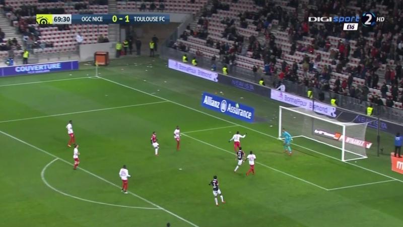 Чемпионат Франции 2017-18 24-й тур Ницца – Тулуза 2 тайм [720, HD]