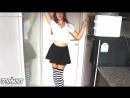 Young Schoolgirl Sexy Babe Stockings Legs Upskirt Ass Fetish Anal Секси Стройная Девушка в Чулках Ножки Попка Под Юбкой Анал Ню